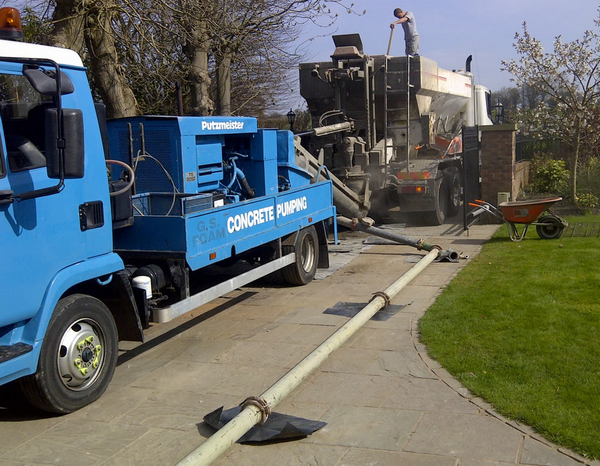 concrete pumping North Wales